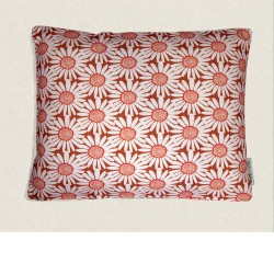 housse coussin outdoor Daisy rose 45x35