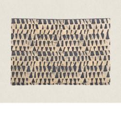 feuille de papier peint outremer