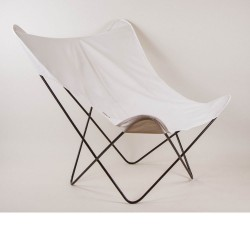 housse fauteuil papillon blanc