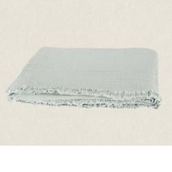 plaid gaze de coton 130X180 Vanly celadon