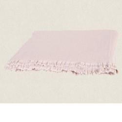 plaid gaze de coton 130X180 Vanly nude