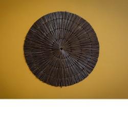 set de table paille noir