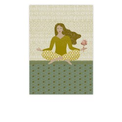 carte postale yoga